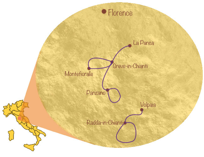 Chianti map